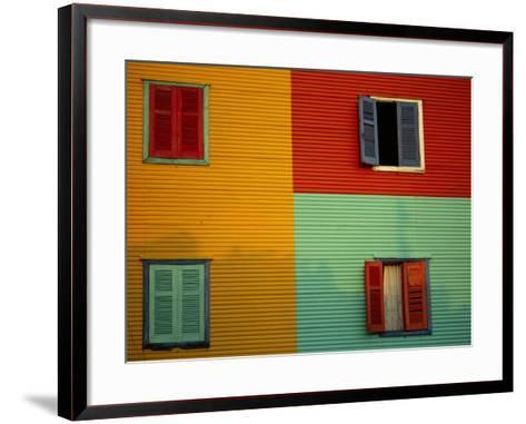 Colourful Buildings in La Boca District, Buenos Aires, Argentina-Louise Murray-Framed Art Print