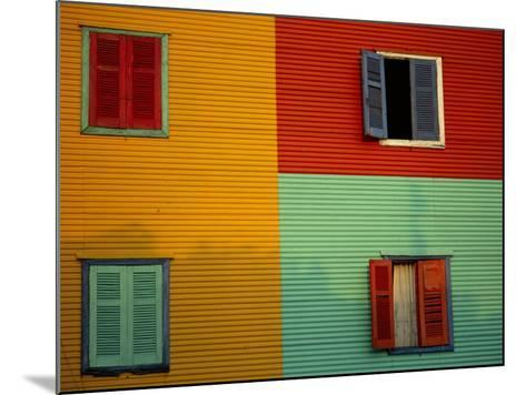 Colourful Buildings in La Boca District, Buenos Aires, Argentina-Louise Murray-Mounted Photographic Print