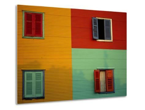 Colourful Buildings in La Boca District, Buenos Aires, Argentina-Louise Murray-Metal Print