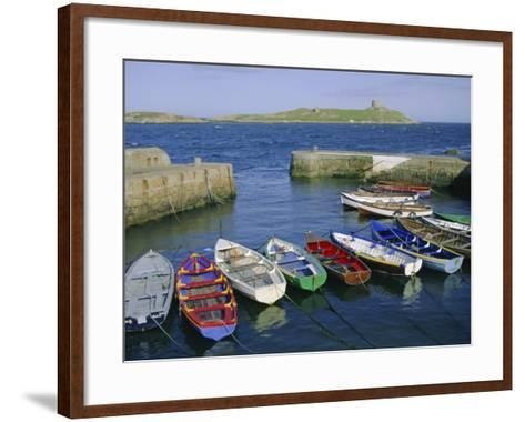 Dalkey Island and Coliemore Harbour, Dublin, Ireland, Europe-Firecrest Pictures-Framed Art Print