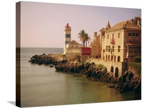 The Lighthouse, Cascais, Estremadura, Portugal, Europe-Firecrest Pictures-Stretched Canvas Print