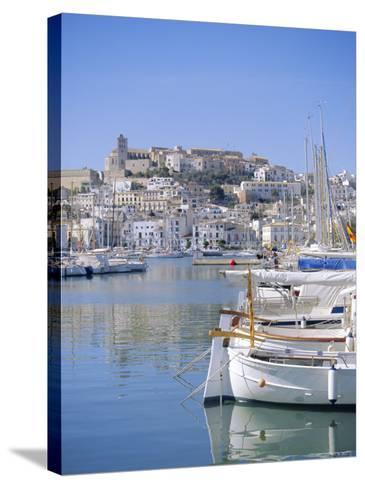Ibiza Town and Harbour, Ibiza, Balearic Islands, Spain, Europe-Firecrest Pictures-Stretched Canvas Print
