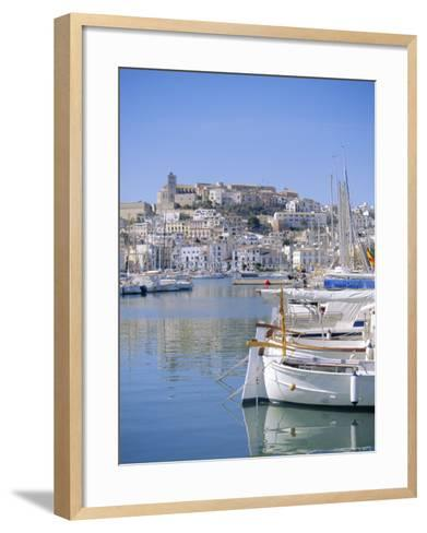 Ibiza Town and Harbour, Ibiza, Balearic Islands, Spain, Europe-Firecrest Pictures-Framed Art Print