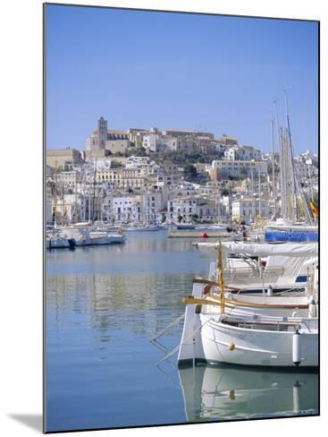 Ibiza Town and Harbour, Ibiza, Balearic Islands, Spain, Europe-Firecrest Pictures-Mounted Photographic Print