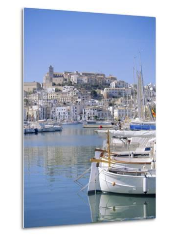 Ibiza Town and Harbour, Ibiza, Balearic Islands, Spain, Europe-Firecrest Pictures-Metal Print