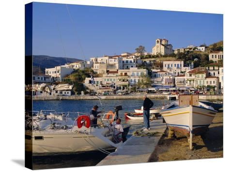 Batsi, Andros, Cyclades Islands, Greece, Europe-Firecrest Pictures-Stretched Canvas Print