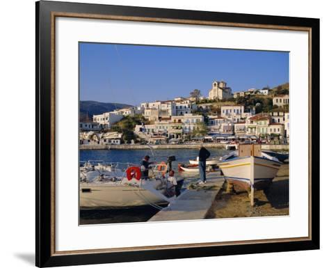 Batsi, Andros, Cyclades Islands, Greece, Europe-Firecrest Pictures-Framed Art Print