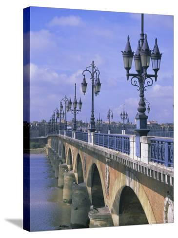 Pont De Pierre, Bordeaux, Gironde, France, Europe-Firecrest Pictures-Stretched Canvas Print