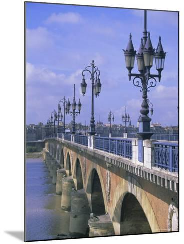 Pont De Pierre, Bordeaux, Gironde, France, Europe-Firecrest Pictures-Mounted Photographic Print