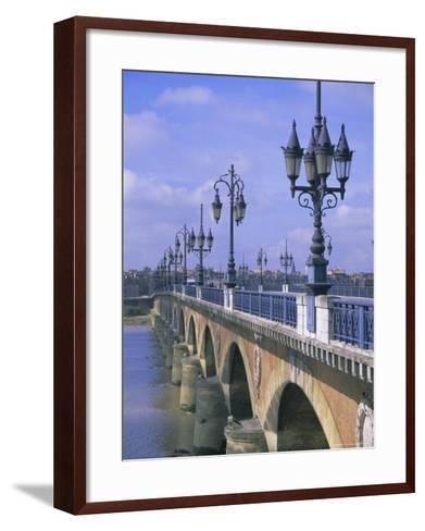 Pont De Pierre, Bordeaux, Gironde, France, Europe-Firecrest Pictures-Framed Art Print