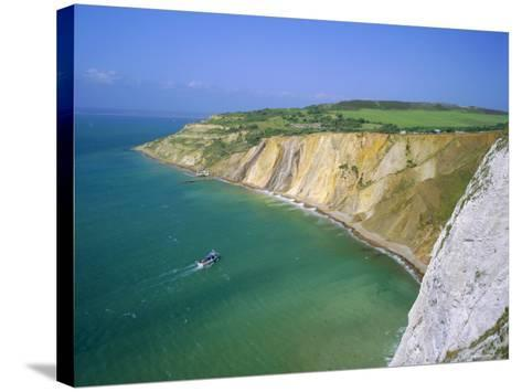 Alum Bay, Isle of Wight, England-Roy Rainford-Stretched Canvas Print