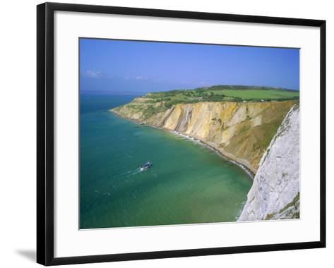 Alum Bay, Isle of Wight, England-Roy Rainford-Framed Art Print