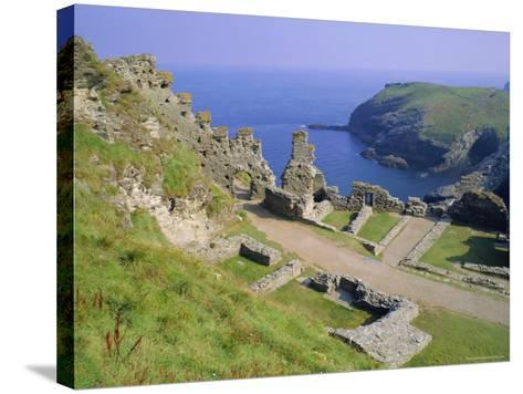 Tintagel Castle, Associated with the Legend of King Arthur, Tintagel, Cornwall, England, UK-Roy Rainford-Stretched Canvas Print