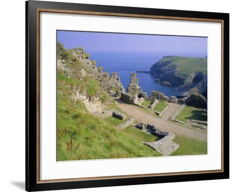 Tintagel Castle, Associated with the Legend of King Arthur, Tintagel, Cornwall, England, UK-Roy Rainford-Framed Art Print