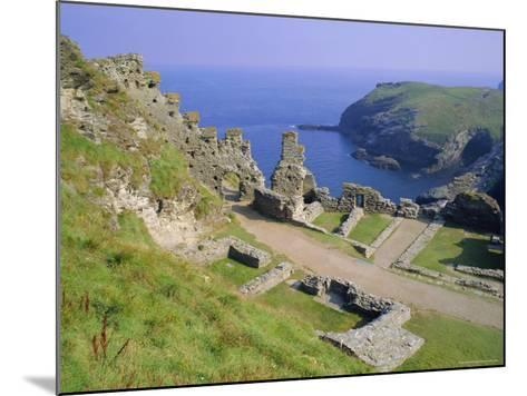 Tintagel Castle, Associated with the Legend of King Arthur, Tintagel, Cornwall, England, UK-Roy Rainford-Mounted Photographic Print