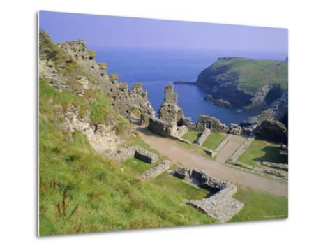 Tintagel Castle, Associated with the Legend of King Arthur, Tintagel, Cornwall, England, UK-Roy Rainford-Metal Print