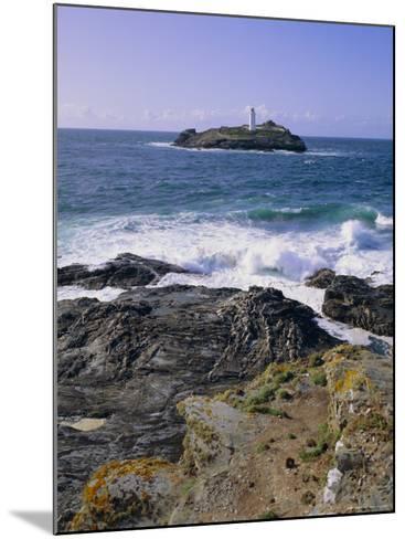 Lighthouse, Godrevy Point, St. Ives Bay, Cornwall, England, UK-Roy Rainford-Mounted Photographic Print