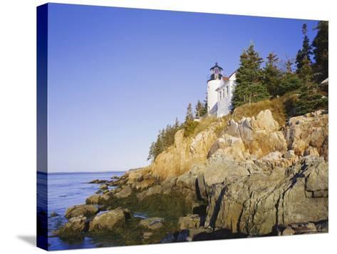 Bass Harbour Lighthouse, Acadia National Park, Maine, New England, USA-Roy Rainford-Stretched Canvas Print