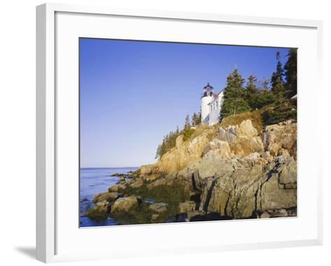 Bass Harbour Lighthouse, Acadia National Park, Maine, New England, USA-Roy Rainford-Framed Art Print