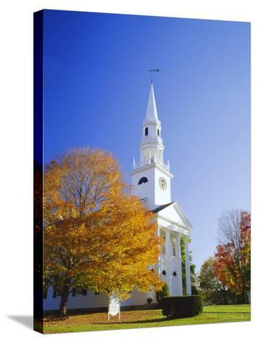 Litchfield Church, Connecticut, New England, USA-Roy Rainford-Stretched Canvas Print