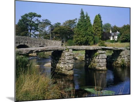 Clapper Bridge, Postbridge, Dartmoor, Devon, England, UK-Roy Rainford-Mounted Photographic Print