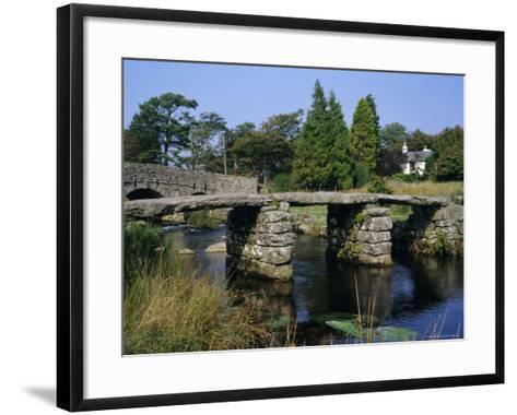 Clapper Bridge, Postbridge, Dartmoor, Devon, England, UK-Roy Rainford-Framed Art Print