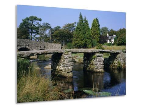 Clapper Bridge, Postbridge, Dartmoor, Devon, England, UK-Roy Rainford-Metal Print