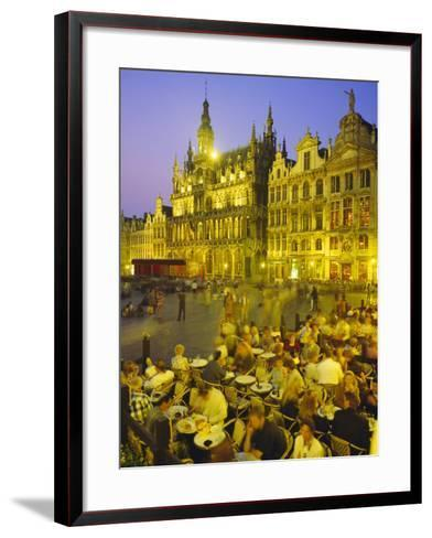Grand Place, Brussels, Belgium-Roy Rainford-Framed Art Print