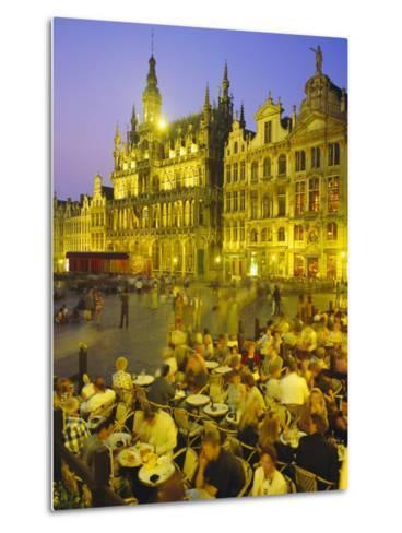Grand Place, Brussels, Belgium-Roy Rainford-Metal Print