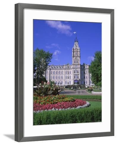 Parliament Building, Quebec City, Quebec, Canada, North America-Roy Rainford-Framed Art Print