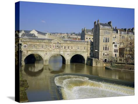 Pulteney Bridge Over the River Avon and Weir, Bath, Unesco World Heritage Site, Avon, England, UK-Roy Rainford-Stretched Canvas Print