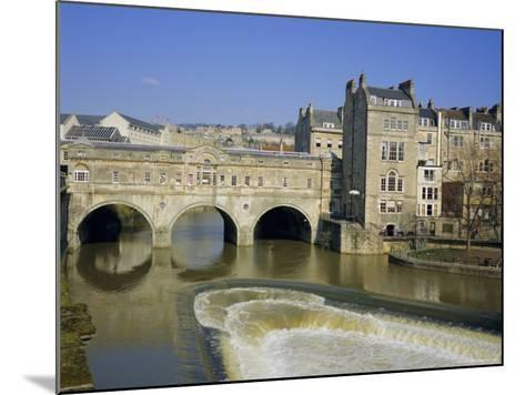 Pulteney Bridge Over the River Avon and Weir, Bath, Unesco World Heritage Site, Avon, England, UK-Roy Rainford-Mounted Photographic Print