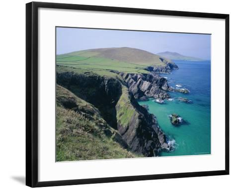 Coastline at Slea Head, Dingle Peninsula, County Kerry, Munster, Republic of Ireland (Eire), Europe-Roy Rainford-Framed Art Print