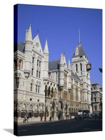 Law Courts (Royal Courts of Justice), Fleet Street, London-Roy Rainford-Stretched Canvas Print
