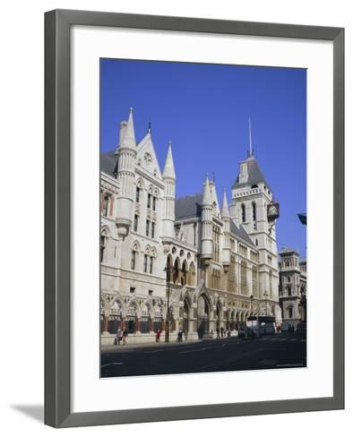 Law Courts (Royal Courts of Justice), Fleet Street, London-Roy Rainford-Framed Art Print