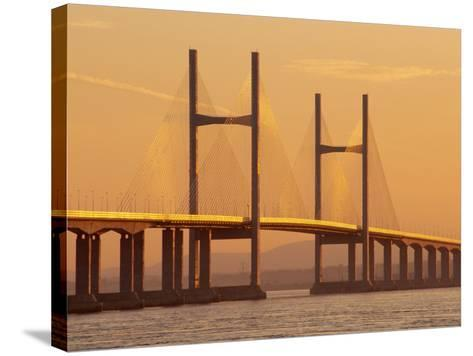 New, Second, Severn Bridge, River Severn, Avon, England, UK, Europe-Roy Rainford-Stretched Canvas Print