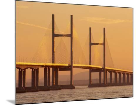 New, Second, Severn Bridge, River Severn, Avon, England, UK, Europe-Roy Rainford-Mounted Photographic Print