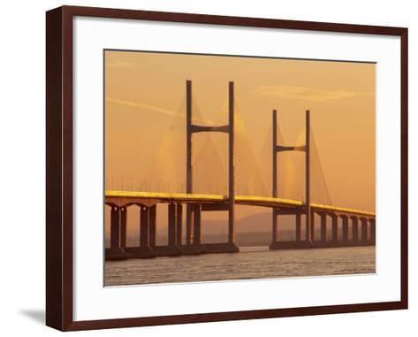 New, Second, Severn Bridge, River Severn, Avon, England, UK, Europe-Roy Rainford-Framed Art Print