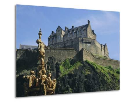 Edinburgh Castle, Edinburgh, Lothian, Scotland, UK, Europe-Roy Rainford-Metal Print