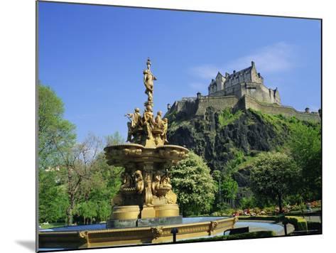 Edinburgh Castle, Edinburgh, Lothian, Scotland, UK, Europe-Roy Rainford-Mounted Photographic Print