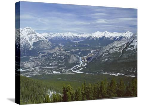 View from Sulphur Mountain, Banff, Rocky Mountains, Alberta, Canada, North America-Rob Cousins-Stretched Canvas Print