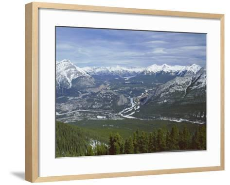 View from Sulphur Mountain, Banff, Rocky Mountains, Alberta, Canada, North America-Rob Cousins-Framed Art Print