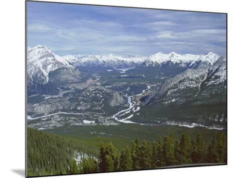 View from Sulphur Mountain, Banff, Rocky Mountains, Alberta, Canada, North America-Rob Cousins-Mounted Photographic Print