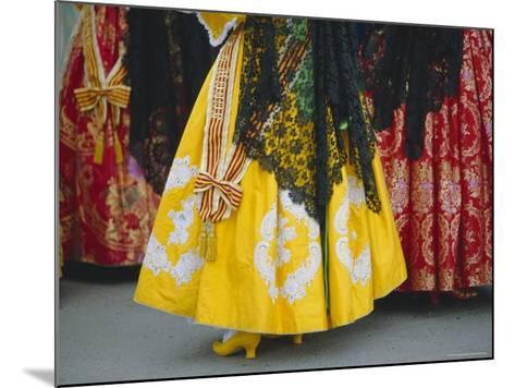Traditional Dresses, Las Fallas Fiesta, Valencia, Spain, Europe-Rob Cousins-Mounted Photographic Print