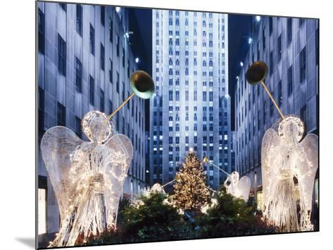 Angels at the Rockerfeller Centre, Decorated for Christmas, New York City, USA-Nigel Francis-Mounted Photographic Print