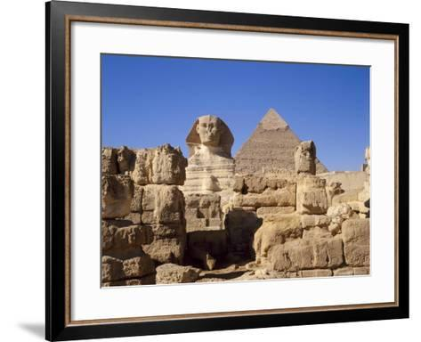 The Great Sphinx and the Chephren Pyramid, Giza, Cairo, Egypt, Africa-Nigel Francis-Framed Art Print
