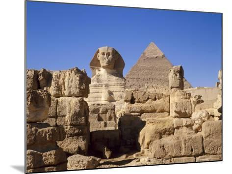 The Great Sphinx and the Chephren Pyramid, Giza, Cairo, Egypt, Africa-Nigel Francis-Mounted Photographic Print