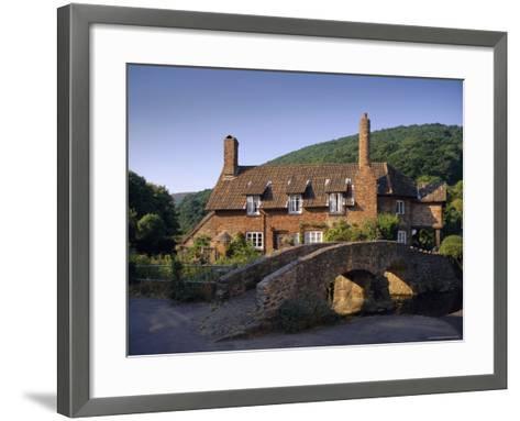 Packhorse Bridge, Allerford, Exmoor National Park, Somerset, England, UK, Europe-John Miller-Framed Art Print