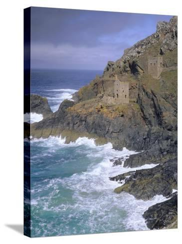 Tin Mine on Coast, Botallack, Cornwall, England, UK, Europe-John Miller-Stretched Canvas Print