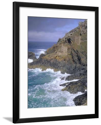 Tin Mine on Coast, Botallack, Cornwall, England, UK, Europe-John Miller-Framed Art Print